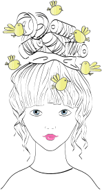 Birds-Nesting-Female-Portrait-Line-Art-300px copy